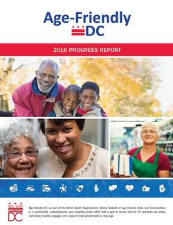 Age-Friendly DC 2016 Progress Report