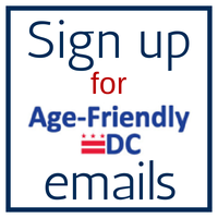 Sign up for emails from Age-Friendly DC
